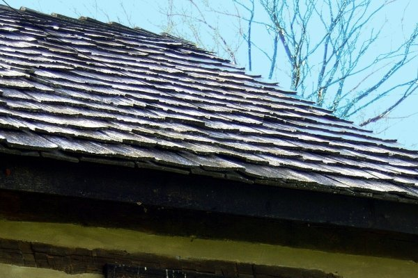 Wood Shakes on Wooden House