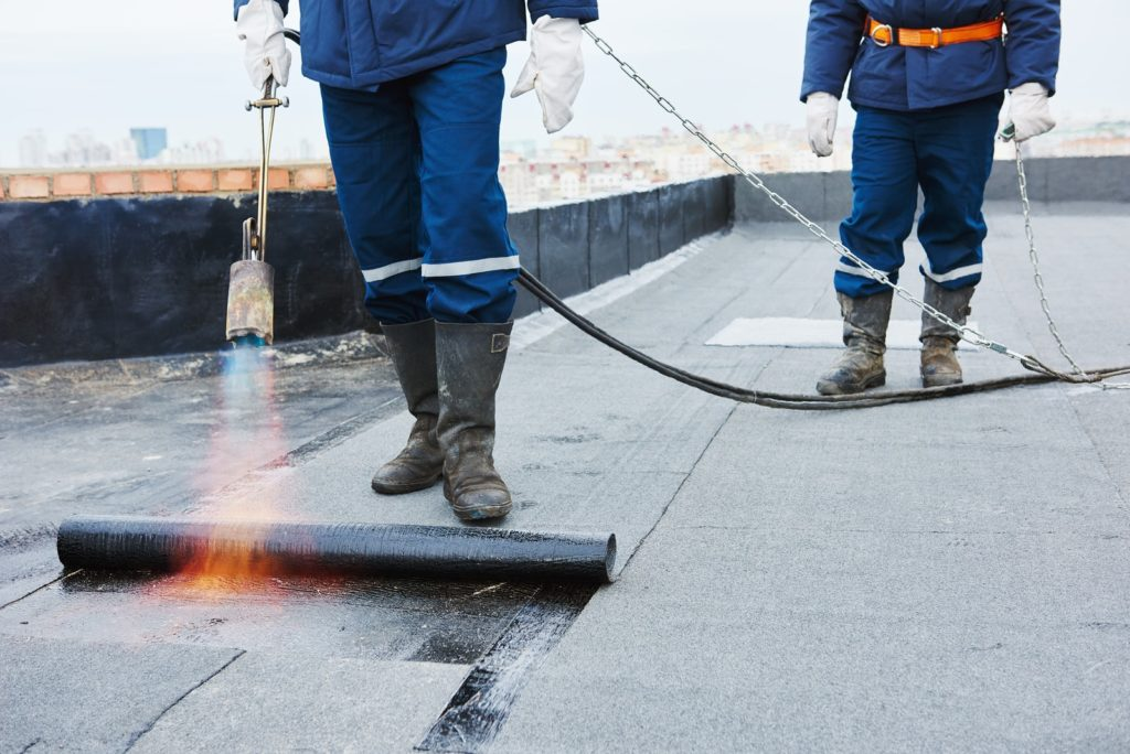 torch down flat roofing