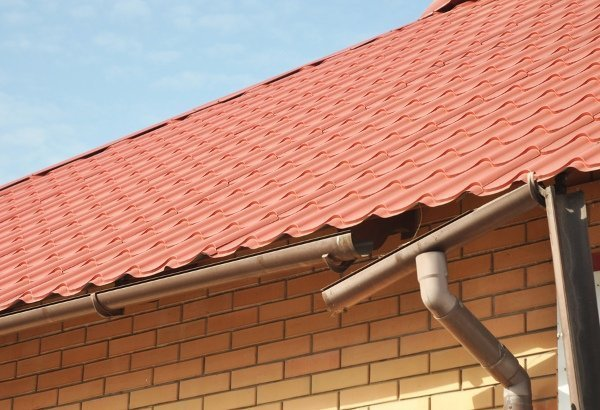 detached and sagging gutter section