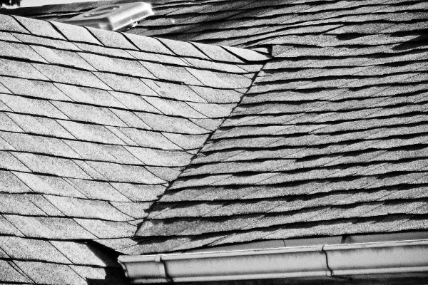 newly-installed architectural shingles