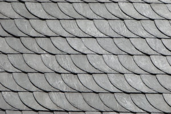slate tile roofs with special shapes